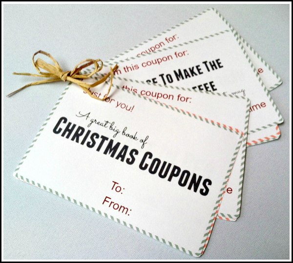 Free Christmas Printable Coupon Book