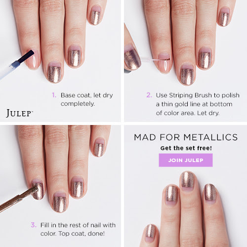 Mad for Metallics Nail Art Tutorial