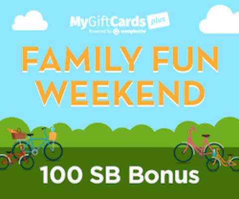 MyGiftCardsPlus Family Fun Weekend