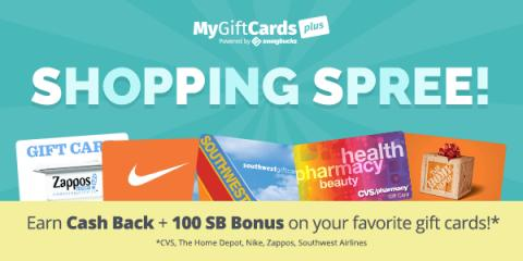 Cash Back on Gift Cards