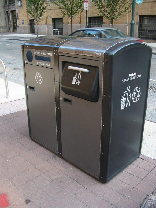 solar powered trash compactors