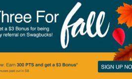 three for fall swagbucks