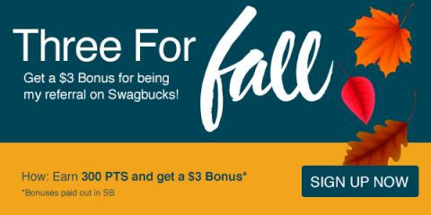 Three For Fall with Swagbucks