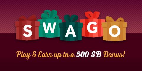 Get more free gift cards for the Holidays from Swagbucks during December's Swago with Spin & Win