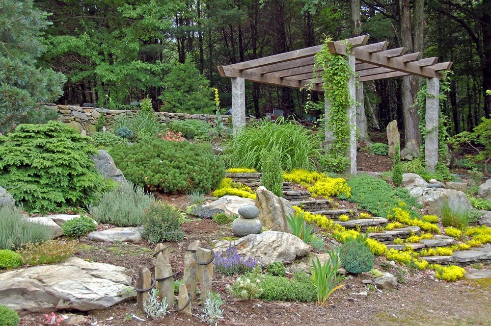Step by Step Guide How to Build a Rock Garden from North Carolina Lifestyle Blogger Champagne Style Bare Budget