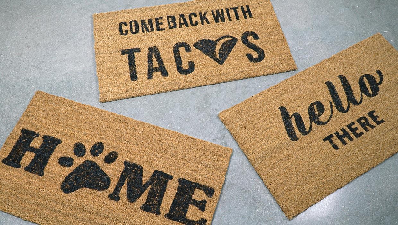 Adorable DIY Doormats You Can Make Today