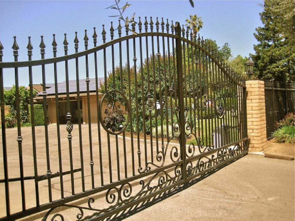Add Appeal to Your Home with Automatic Gates Installation from North Carolina Lifestyle Blogger Champagne Style Bare Budget