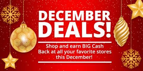 Earn Big Cash Back on your Christmas Shopping