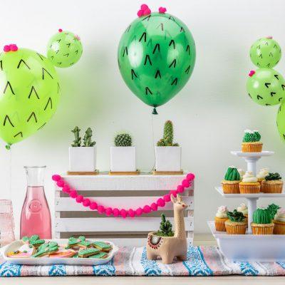 How to Create DIY Cactus Balloons + Cactus Party Ideas