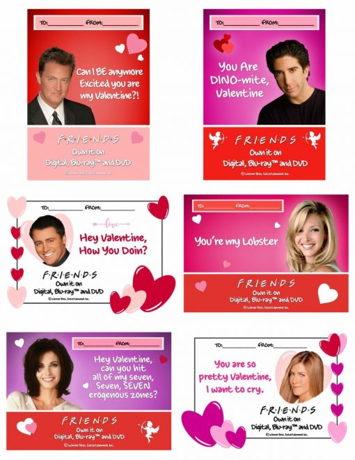 Love Is In The Air With These Printable Valentine's Day Cards & Recipes From Friends TV - #OwnFriendsTV from North Carolina Lifestyle Blogger Champagne Style Bare Budget